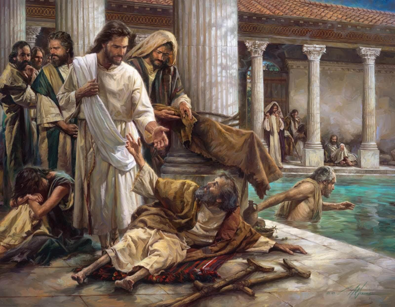 Jesus curando Paralitico