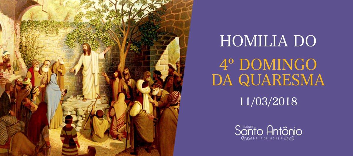Homilia do 4º Domingo da Quaresma - Pe. Marciano