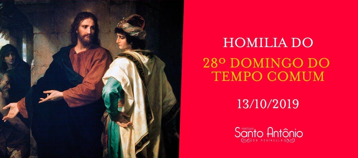 Homilia - 28º Domingo do Tempo Comum